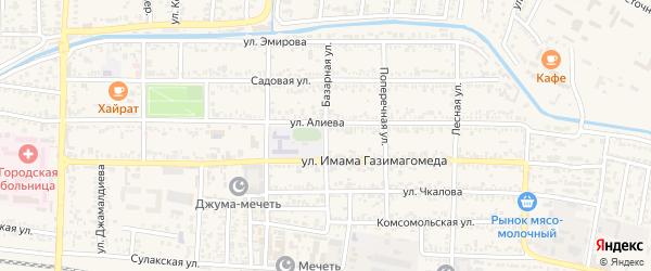 Базарная улица на карте Кизилюрта с номерами домов