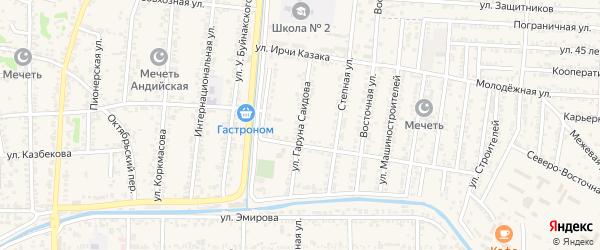 Улица Саидова на карте Кизилюрта с номерами домов