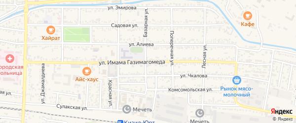Улица Газимагомеда на карте Кизилюрта с номерами домов