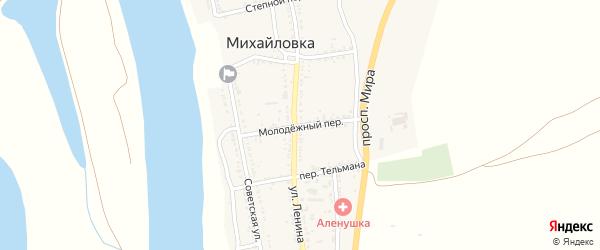Молодежный переулок на карте села Михайловки с номерами домов