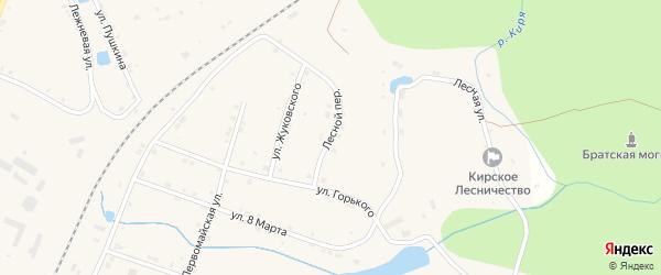 Лесной переулок на карте поселка Киря с номерами домов