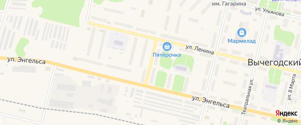Улица Серегина на карте Вычегодского поселка с номерами домов