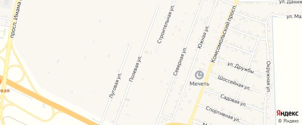 Строительная улица на карте Кизилюрта с номерами домов