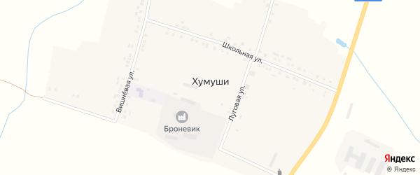 Вишневая улица на карте деревни Хумуши с номерами домов