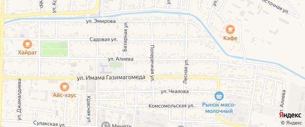 Поперечная улица на карте Кизилюрта с номерами домов