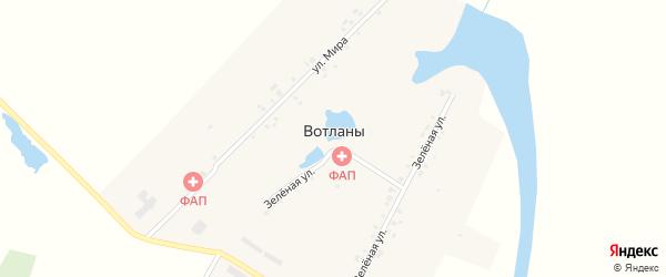 Улица Мира на карте деревни Вотланы с номерами домов