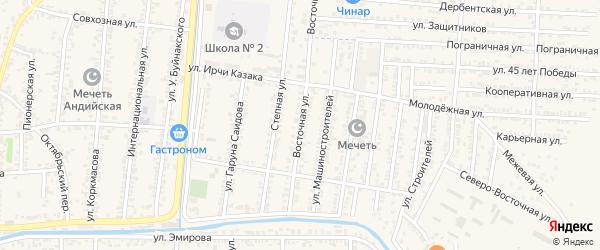 Восточная улица на карте Кизилюрта с номерами домов
