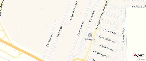 Степная улица на карте села Султанянгиюрта с номерами домов