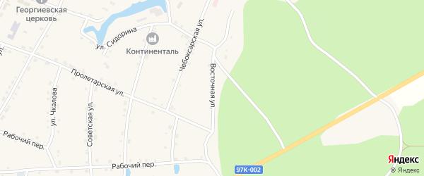 Восточная улица на карте поселка Киря с номерами домов