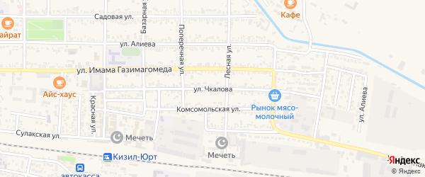 Улица Чкалова на карте Кизилюрта с номерами домов