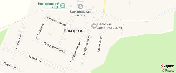 Октябрьская улица на карте поселка Комарово с номерами домов