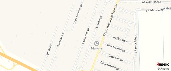 Северная улица на карте села Султанянгиюрта с номерами домов