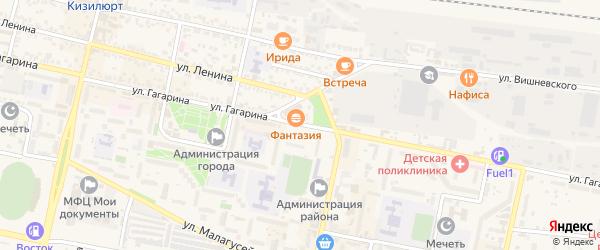 Улица Гагарина на карте Кизилюрта с номерами домов