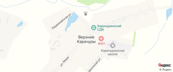 Улица Мира на карте деревни Верхние Карачуры с номерами домов