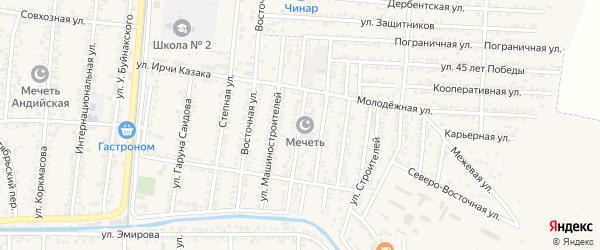 Улица Абдуллаева на карте Кизилюрта с номерами домов