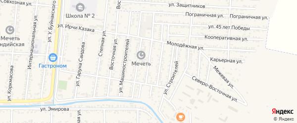 Верхняя Мостовая улица на карте Кизилюрта с номерами домов
