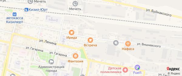 Улица Вишневского на карте Кизилюрта с номерами домов