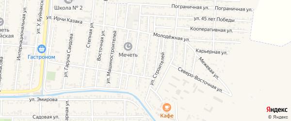Нижняя Мостовая улица на карте Кизилюрта с номерами домов