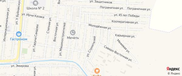 Мостовая улица на карте Кизилюрта с номерами домов