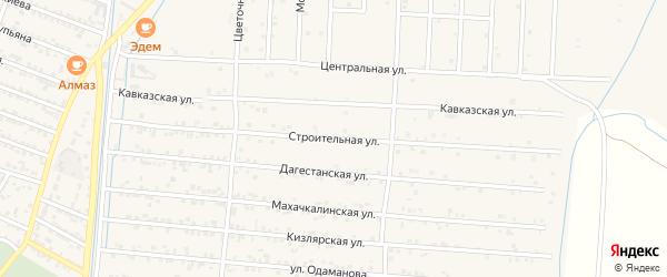 Строительная улица на карте села Султанянгиюрта с номерами домов