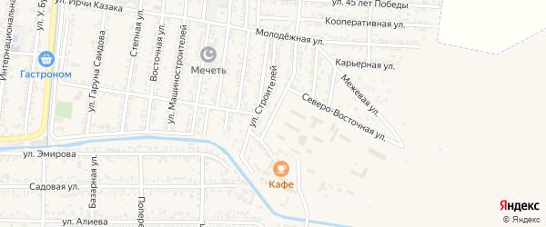 Юго-Восточная улица на карте Кизилюрта с номерами домов