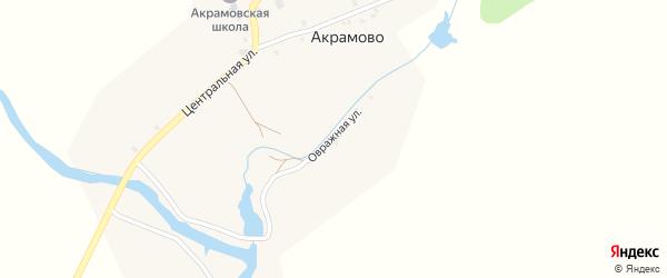 Овражная улица на карте села Акрамово с номерами домов