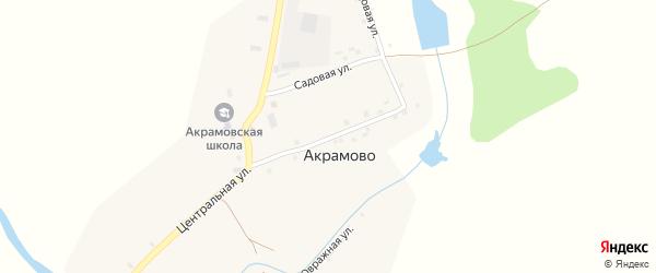 Центральная улица на карте села Акрамово с номерами домов
