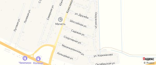 Садовая улица на карте села Султанянгиюрта с номерами домов