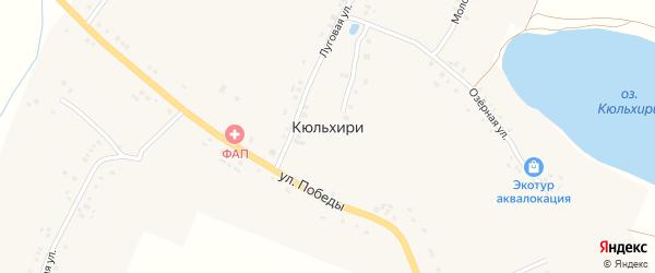 Новая улица на карте деревни Кюльхири с номерами домов
