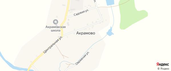 Улица Мира на карте села Акрамово с номерами домов