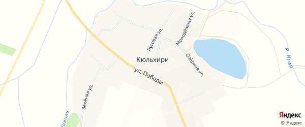Карта деревни Кюльхири в Чувашии с улицами и номерами домов