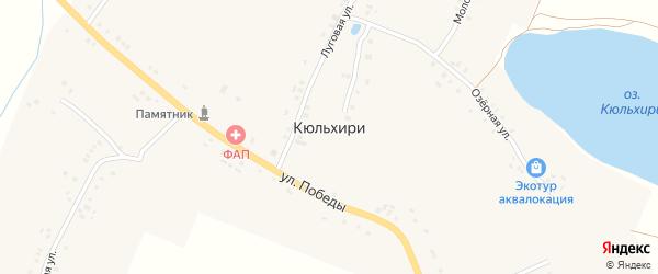 Речная улица на карте деревни Кюльхири с номерами домов