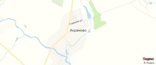 Карта села Акрамово в Чувашии с улицами и номерами домов
