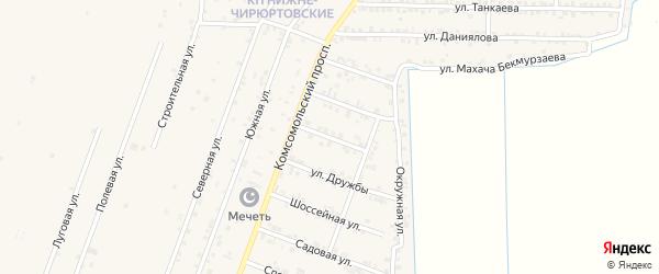 Улица Аскерханова на карте села Султанянгиюрта с номерами домов