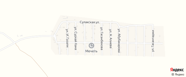 Улица Им Газимагомеда на карте села Гельбаха с номерами домов