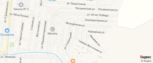 Полевая улица на карте Кизилюрта с номерами домов