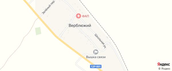 Железнодорожная улица на карте Верблюжьего поселка с номерами домов