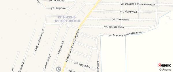 Улица Расула Гамзатова на карте Кизилюрта с номерами домов