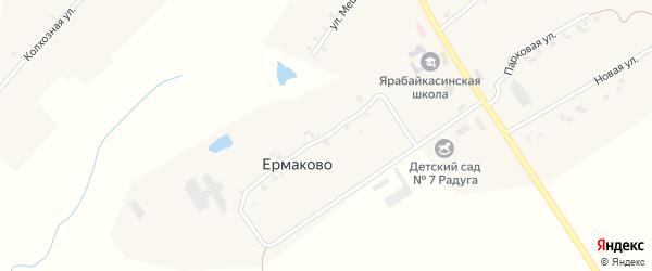 Школьная улица на карте деревни Ермаково с номерами домов