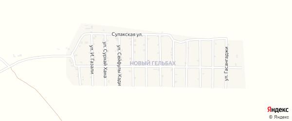 Улица Гасанбекова на карте села Гельбаха с номерами домов