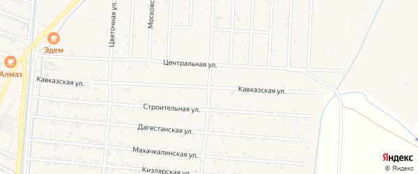 Кавказская улица на карте села Султанянгиюрта с номерами домов