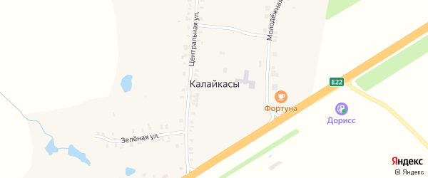 Молодежная улица на карте деревни Калайкас с номерами домов