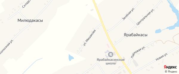 Улица Мешакова на карте деревни Ермаково с номерами домов