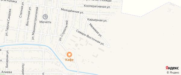 Северо-Восточная улица на карте Кизилюрта с номерами домов
