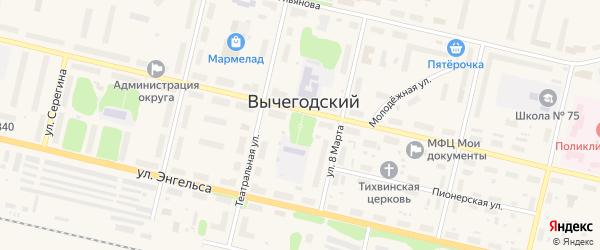 Улица Погорелка на карте Вычегодского поселка с номерами домов