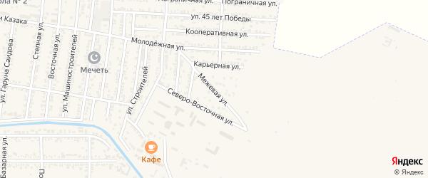 Межевая улица на карте Кизилюрта с номерами домов