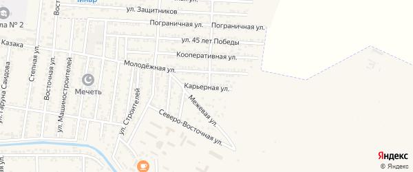 Карьерная улица на карте Кизилюрта с номерами домов