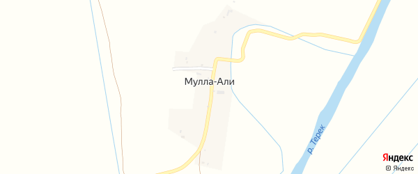 Садовая улица на карте села Муллы-Али с номерами домов