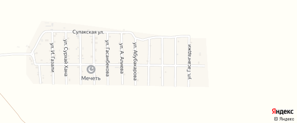 Улица Курамагомедгаджи на карте села Гельбаха с номерами домов