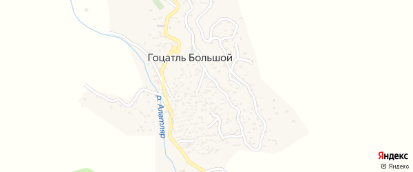 Улица Худанатил Мухаммада на карте села Гоцатля Большой с номерами домов